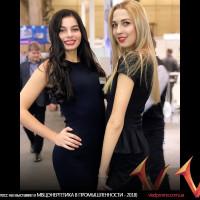 Хостесс на выставке в МВЦ(ЭНЕРГЕТИКА В ПРОМЫШЛЕННОСТИ - 2018)