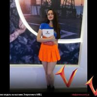 Промо модель на выставке Энергетики в МВЦ