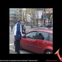 """раздача листовок на перекрестках для компании """"Партнер-Авто"""""""