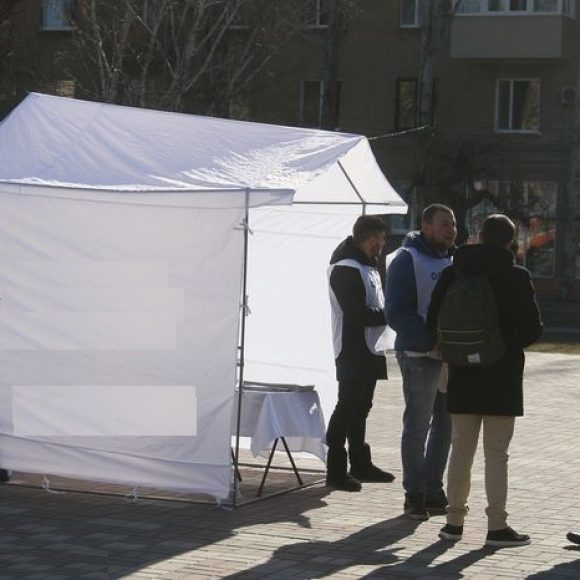 Election campaigning in Kyiv